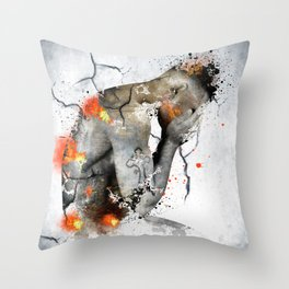 nude explore Throw Pillow