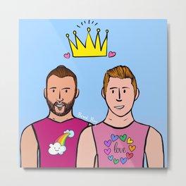Beard Boy: Ivan & Carlos Metal Print