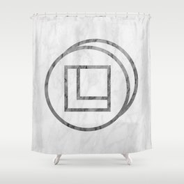 David in Marble Shower Curtain