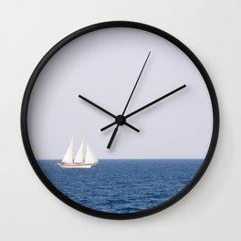 white sailboat Wall Clock