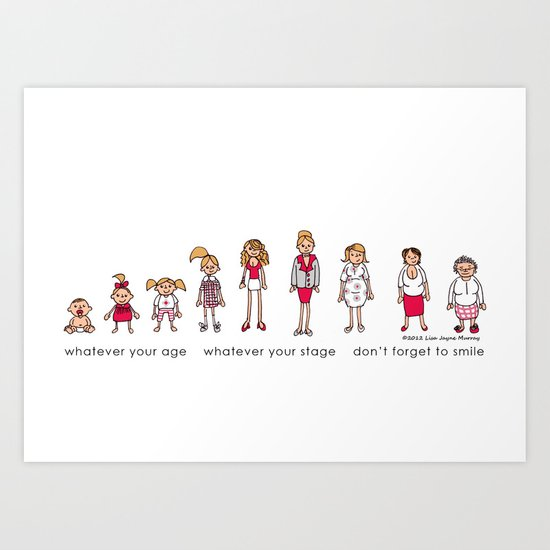 Ages and Stages Art Print