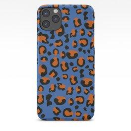 Jungle - Leopard Pattern Blue iPhone Case