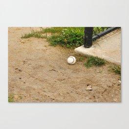 Lone Baseball Canvas Print