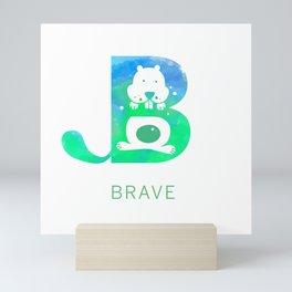 Brave Big Letter 2 Mini Art Print
