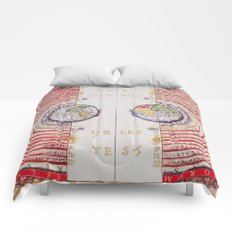 Vivid Ancient Map Comforters