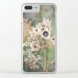 Delicate Autumn - wild flower photo, botanical print Clear iPhone Case