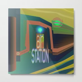 Oxygen Air Bank Station Metal Print