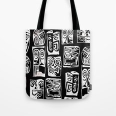 tribal in black and white Tote Bag