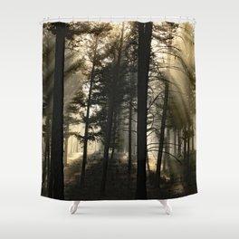 Woodland Sunrise Shower Curtain