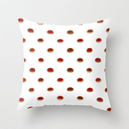 Pizza Pattern Hndr Throw Pillow