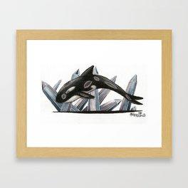 Quartz Orca Framed Art Print