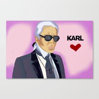 karl Canvas Prints featuring Karl by Irina Lendyel