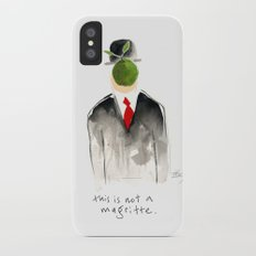 this is not a magritte iPhone X Slim Case