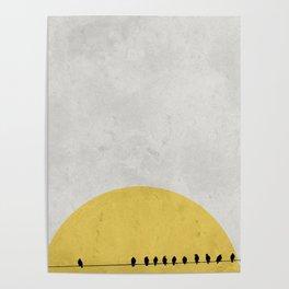 Bird sunrise Poster