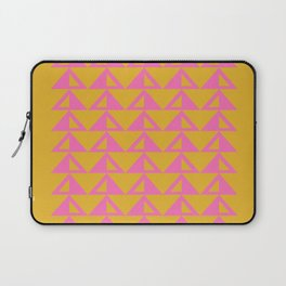 Geometric Triangle Pattern in Sunny Yellow and Neon Pink Laptop Sleeve