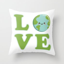 Love Earth Day Throw Pillow