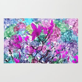 Floral abstract (81) Rug
