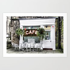 Sid's Cafe, Holmfirth Art Print