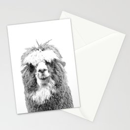 Black and White Alpaca Stationery Cards