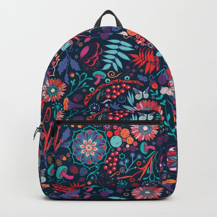 Ripe autumn – cyan and red Backpack
