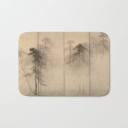 Hasegawa Tohaku - Pine Trees Six-Fold Japanese Screen Bath Mat