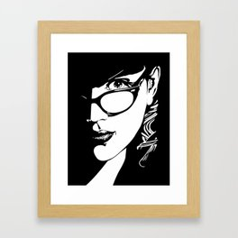 SILKEN FLOSS Framed Art Print
