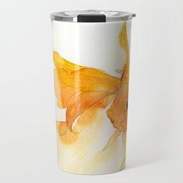 Watercolor Goldfish 1 Travel Mug