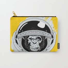 Monkey in white space Carry-All Pouch