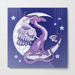 Vendel Dragon - the moon Metal Print