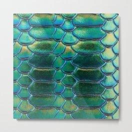 Aqua Scales Metal Print