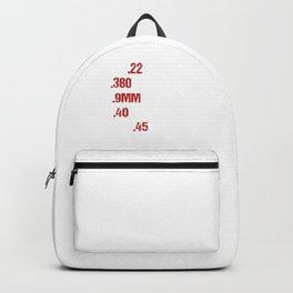Gun Enthusiasts .22 .380 9mm Faster Than 911 Gun Law Amendment Gift Backpack