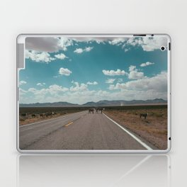 cows on the open road Laptop & iPad Skin