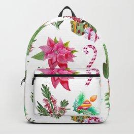Christmas Pattern with Australian Native Bottlebrush Flowers Backpack