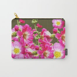 Pink Florals On Puce Color Art Carry-All Pouch