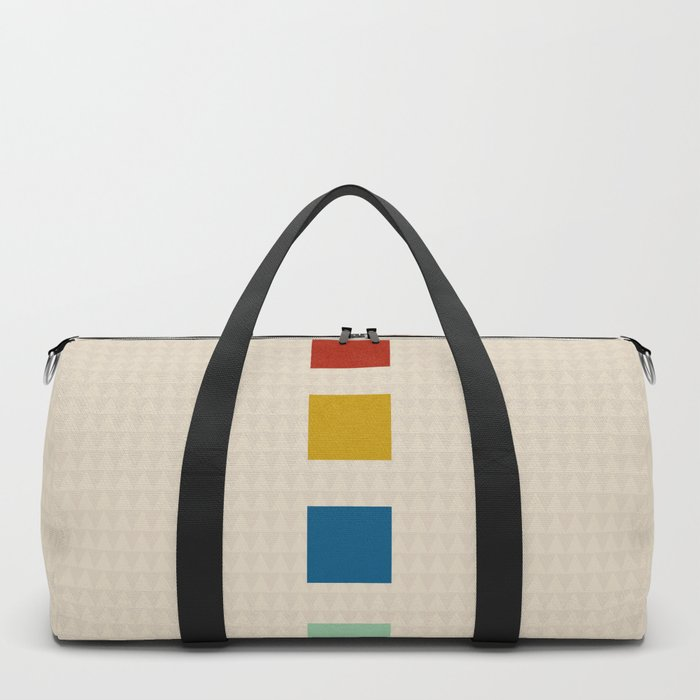 four elements    tweed & primary colors Duffle Bag