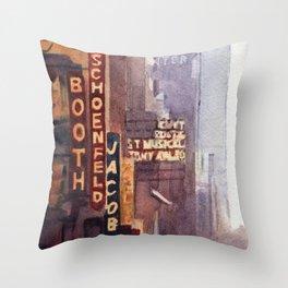NYC - 45th Street Throw Pillow
