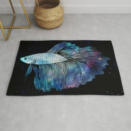 Betta Fish Galaxy Rug