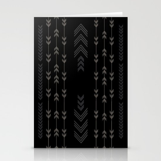Headlands Arrows Black Stationery Cards
