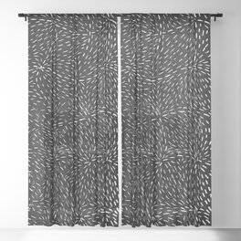 Doorway to outer space Sheer Curtain