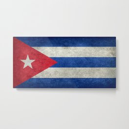 Cuban national flag- vintage retro version Metal Print