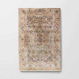 Silk Esfahan Persian Carpet Print Metal Print