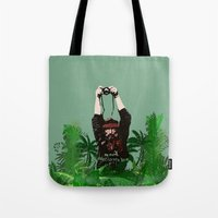 photographer Tote Bags featuring Photographer by ELCORINTIO