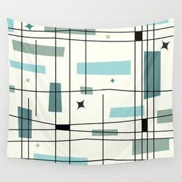 Mid Century Art Bauhaus Style Wall Tapestry