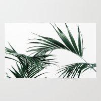 palms Area & Throw Rugs featuring Palms by Rachel De Vita
