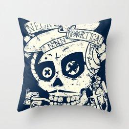 Necro Nautical Nonsense  Throw Pillow