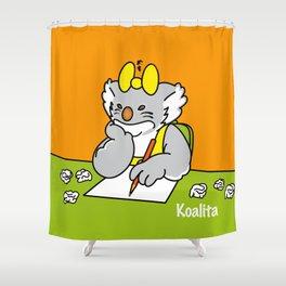 Koalita at school Shower Curtain