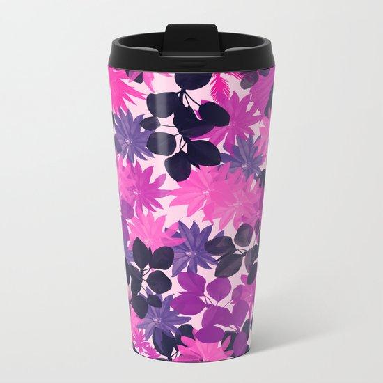 Floral 2 Metal Travel Mug