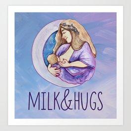 Milk & Hugs Art Print