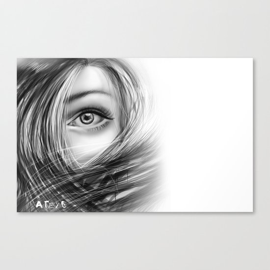 'Coz eye is never lie.... Canvas Print