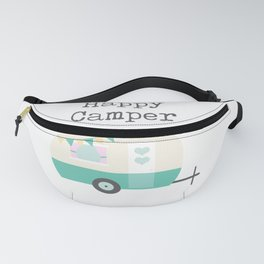 Happy Camper White Fanny Pack